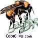Honeybee Vector Clipart graphic