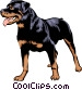 Rottweiler Vector Clipart illustration