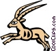 Cool antelope Vector Clip Art image
