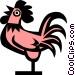 Cool hen Vector Clip Art image