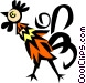Cool rooster Vector Clip Art picture