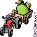 Farm tractor Vector Clipart image