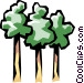 Trees Vector Clipart graphic