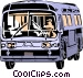 Public transit bus Vector Clipart picture