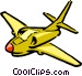 Cartoon jet airplane Vector Clip Art image