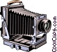 Old fashioned camera Vector Clipart illustration