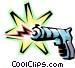 Toy laser gun Vector Clip Art image