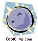 Moon Vector Clip Art graphic