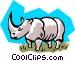 Rhinoceros Vector Clip Art graphic