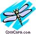 Dragonflies Vector Clip Art image