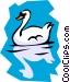 Swan Vector Clipart illustration