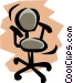 Chair Vector Clipart graphic