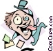 Mad as a hatter Vector Clip Art graphic