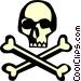 Skull & crossbones Vector Clip Art image