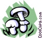 Mushrooms Vector Clip Art graphic