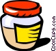 Mustard jar Vector Clip Art picture