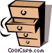 Chest of drawers Vector Clip Art image