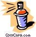 Spray can Vector Clipart graphic