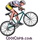 Man on mountain bike Vector Clipart picture