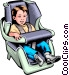 Child in a car seat Vector Clipart picture