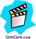 Clapper board Vector Clip Art image