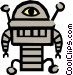 Robot Vector Clipart graphic