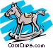 Rocking horse Vector Clip Art picture