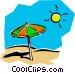 Sun & sand Vector Clipart illustration