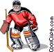 Hockey goalie Vector Clipart graphic