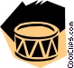 Woodcut drums Vector Clipart graphic