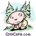 Babe in the woods Vector Clipart picture