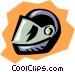 Crash helmet Vector Clip Art image