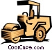 Paving roller Vector Clipart graphic