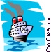 Ocean liner Vector Clipart illustration