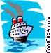 Ocean liner Vector Clipart illustration