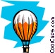 Hot air balloons Vector Clip Art image