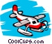 Pontoon plane Vector Clipart graphic