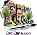 Townhouses Vector Clip Art picture