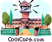 School building Vector Clipart graphic