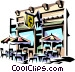 Street cafe Vector Clipart graphic