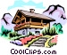 Swiss chalets Vector Clipart picture