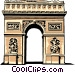 Arc de Triomphe Vector Clipart illustration