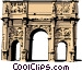 Roman Arch of Constantine Vector Clip Art picture