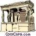 Porch of the maidens Vector Clipart picture