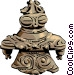 Japanese miniature statue Vector Clipart graphic