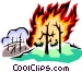 Forest fire Vector Clipart graphic