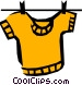 Shirt hanging on a clothesline Vector Clipart picture
