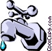 Water faucet Vector Clipart graphic