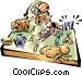 Idaho vignette map Vector Clipart picture