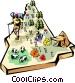 New Hampshire vignette map Vector Clip Art picture